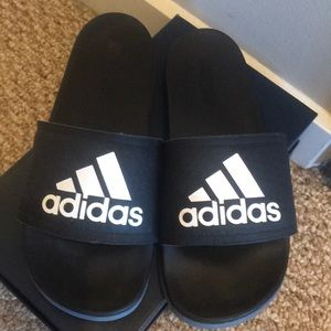 Black Adidas Sliders
